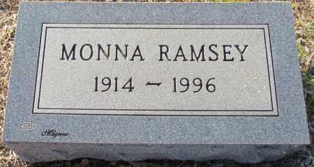 RAMSEY, MONNA - Cleburne County, Arkansas | MONNA RAMSEY - Arkansas Gravestone Photos