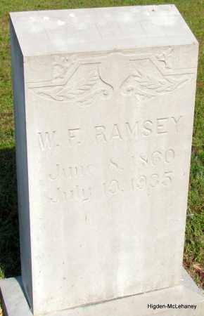 RAMSEY, W F - Cleburne County, Arkansas   W F RAMSEY - Arkansas Gravestone Photos