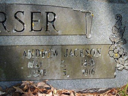 VERSER, ANDREW JACKSON (CLOSE-UP) - Cleburne County, Arkansas | ANDREW JACKSON (CLOSE-UP) VERSER - Arkansas Gravestone Photos