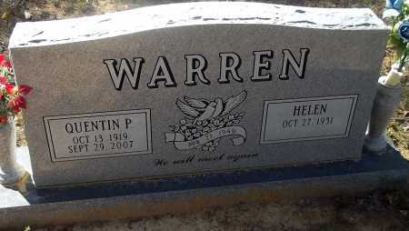 WARREN, QUENTIN PERSHING - Cleburne County, Arkansas   QUENTIN PERSHING WARREN - Arkansas Gravestone Photos