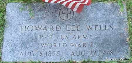 WELLS (VETERAN WWI), HOWARD LEE - Cleburne County, Arkansas | HOWARD LEE WELLS (VETERAN WWI) - Arkansas Gravestone Photos