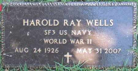 WELLS (VETERAN WWII), HAROLD RAY - Cleburne County, Arkansas | HAROLD RAY WELLS (VETERAN WWII) - Arkansas Gravestone Photos