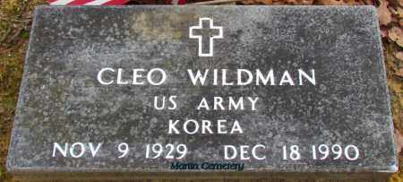 WILDMAN (VETERAN KOR), CLEO - Cleburne County, Arkansas | CLEO WILDMAN (VETERAN KOR) - Arkansas Gravestone Photos