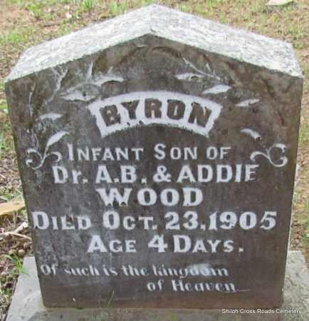 WOOD, BYRON - Cleburne County, Arkansas | BYRON WOOD - Arkansas Gravestone Photos