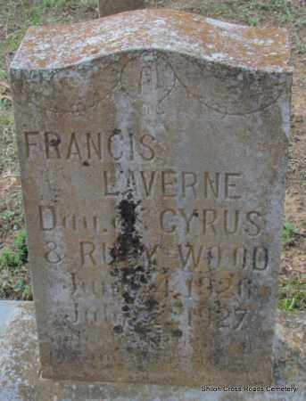 WOOD, FRANCIS LAVERNE - Cleburne County, Arkansas | FRANCIS LAVERNE WOOD - Arkansas Gravestone Photos