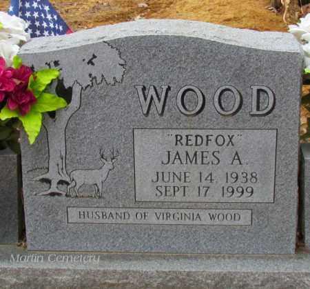 "WOOD, JAMES A ""REDFOX"" - Cleburne County, Arkansas | JAMES A ""REDFOX"" WOOD - Arkansas Gravestone Photos"