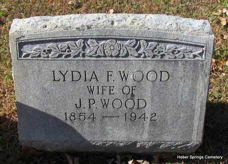 WOOD, LYDIA F - Cleburne County, Arkansas | LYDIA F WOOD - Arkansas Gravestone Photos