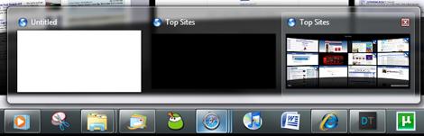 Safari 4 WIndows 7 Superbar