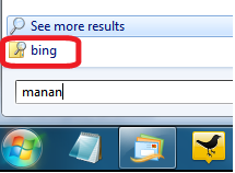 Bing In Start Menu