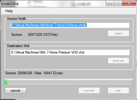 convert vmware virtual drive vmdk to vhd