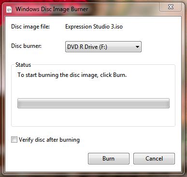 windows disc image burner iso write windows 7