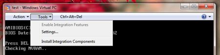 install integration components windows virtual pc