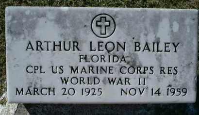 BAILEY (VETERAN WWII), ARTHUR LEON - Charlotte County, Florida | ARTHUR LEON BAILEY (VETERAN WWII) - Florida Gravestone Photos