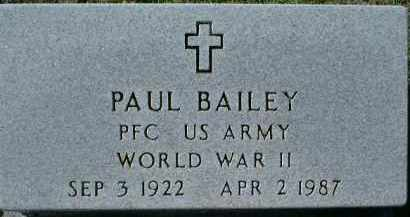 BAILEY (VETERAN WWII), PAUL - Charlotte County, Florida | PAUL BAILEY (VETERAN WWII) - Florida Gravestone Photos