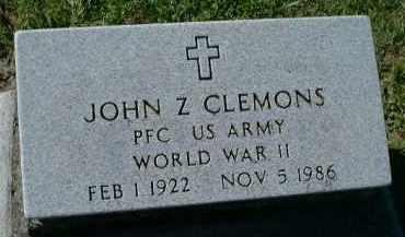 CLEMONS (VETERAN WWII), JOHN Z - Charlotte County, Florida   JOHN Z CLEMONS (VETERAN WWII) - Florida Gravestone Photos