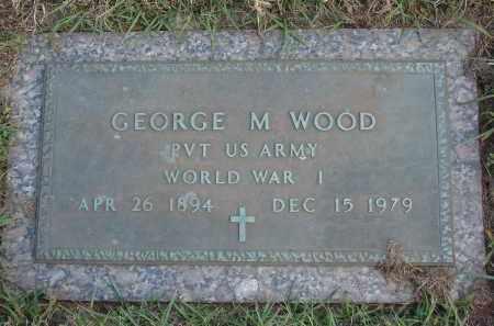WOOD (VETERAN WWI), GEORGE M - Charlotte County, Florida | GEORGE M WOOD (VETERAN WWI) - Florida Gravestone Photos