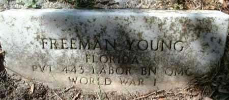 YOUNG (VETERAN WWI), FREEMAN - Charlotte County, Florida | FREEMAN YOUNG (VETERAN WWI) - Florida Gravestone Photos