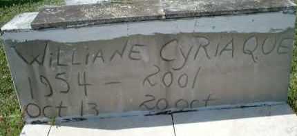 CYRIAQUE, WILLIANE - Collier County, Florida | WILLIANE CYRIAQUE - Florida Gravestone Photos