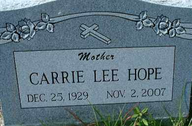 HOPE, CARRIE LEE - Collier County, Florida | CARRIE LEE HOPE - Florida Gravestone Photos