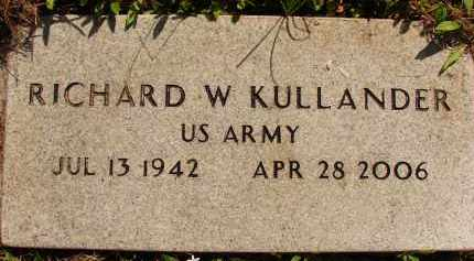 KULLANDER (VETERAN), RICHARD W. - Collier County, Florida | RICHARD W. KULLANDER (VETERAN) - Florida Gravestone Photos