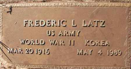 LATZ (VETERAN WWII  KOR), FREDERIC L. - Collier County, Florida | FREDERIC L. LATZ (VETERAN WWII  KOR) - Florida Gravestone Photos