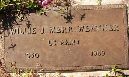 MERRIWEATHER (VETERAN), WILLIE J. - Collier County, Florida | WILLIE J. MERRIWEATHER (VETERAN) - Florida Gravestone Photos