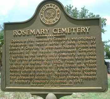 *ROSEMARY, CEMETERY - Collier County, Florida | CEMETERY *ROSEMARY - Florida Gravestone Photos
