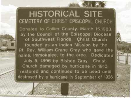 *CHRIST EPISCOPAL CHURCH, HISTORICAL SIGN - Collier County, Florida | HISTORICAL SIGN *CHRIST EPISCOPAL CHURCH - Florida Gravestone Photos