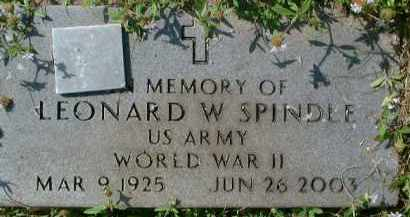 SPINDLE (VETERAN WWII), LEONARD W. - Collier County, Florida | LEONARD W. SPINDLE (VETERAN WWII) - Florida Gravestone Photos