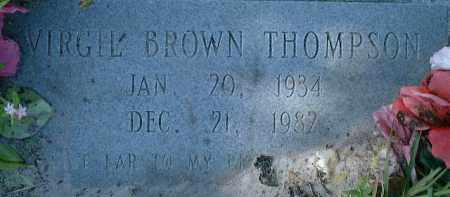 THOMPSON, VIRGIL BROWN - Collier County, Florida   VIRGIL BROWN THOMPSON - Florida Gravestone Photos