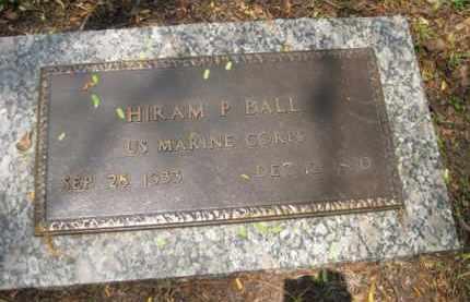 BALL (VETERAN), HIRAM P. - Miami-Dade County, Florida   HIRAM P. BALL (VETERAN) - Florida Gravestone Photos