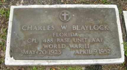 BLAYLOCK (VETERAN WWII), CHARLES W, - Miami-Dade County, Florida   CHARLES W, BLAYLOCK (VETERAN WWII) - Florida Gravestone Photos