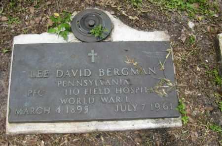 BERGMAN (VETERAN WWI), LEE DAVID - Miami-Dade County, Florida | LEE DAVID BERGMAN (VETERAN WWI) - Florida Gravestone Photos