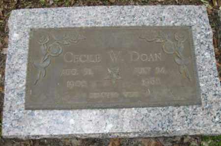 DOAN, CECILE W. - Miami-Dade County, Florida | CECILE W. DOAN - Florida Gravestone Photos