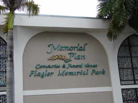 *FLAGLER MEMORIAL PARK, SIGN - Miami-Dade County, Florida | SIGN *FLAGLER MEMORIAL PARK - Florida Gravestone Photos