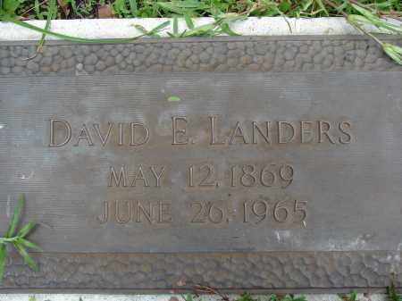 LANDERS, DAVID E - Miami-Dade County, Florida | DAVID E LANDERS - Florida Gravestone Photos