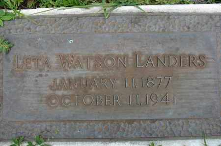 WATSON LANDERS, LETA - Miami-Dade County, Florida | LETA WATSON LANDERS - Florida Gravestone Photos