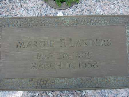 LANDERS, MARGIE F - Miami-Dade County, Florida   MARGIE F LANDERS - Florida Gravestone Photos
