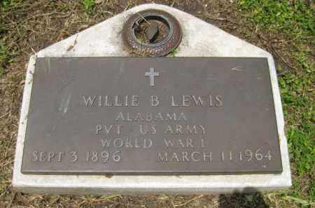 LEWIS (VETERAN WWI), WILLIE B. - Miami-Dade County, Florida | WILLIE B. LEWIS (VETERAN WWI) - Florida Gravestone Photos