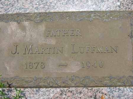 LUFFMAN, J MARTIN - Miami-Dade County, Florida | J MARTIN LUFFMAN - Florida Gravestone Photos