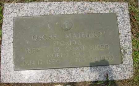 MATHERS (VETERAN WWI), OSCAR - Miami-Dade County, Florida | OSCAR MATHERS (VETERAN WWI) - Florida Gravestone Photos
