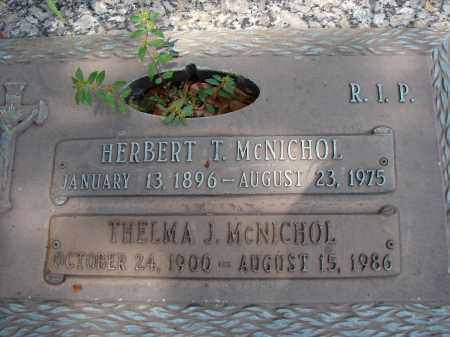 MCNICHOL, HERBERT T - Miami-Dade County, Florida | HERBERT T MCNICHOL - Florida Gravestone Photos