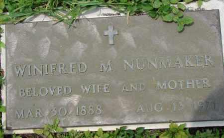 NUNMAKER, WINIFRED M - Miami-Dade County, Florida | WINIFRED M NUNMAKER - Florida Gravestone Photos
