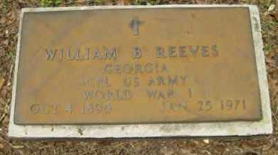 REEVES (VETERAN WWI), WILLIAM B. - Miami-Dade County, Florida | WILLIAM B. REEVES (VETERAN WWI) - Florida Gravestone Photos