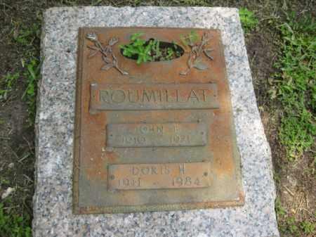 ROUMILLAT, JOHN E, - Miami-Dade County, Florida   JOHN E, ROUMILLAT - Florida Gravestone Photos