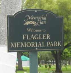*FLAGLER MEMORIAL PARK, SIGN - Miami-Dade County, Florida | SIGN *FLAGLER MEMORIAL PARK - Florida Gravestone Photos