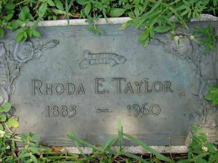 TAYLOR, RHODA E - Miami-Dade County, Florida | RHODA E TAYLOR - Florida Gravestone Photos