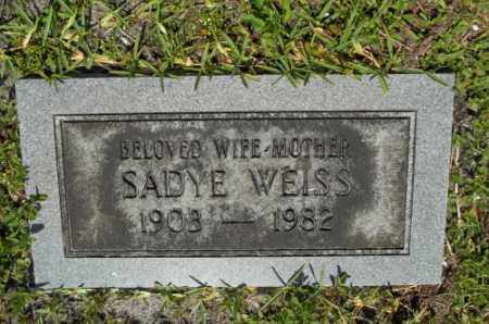 WEISS, SADYE - Miami-Dade County, Florida | SADYE WEISS - Florida Gravestone Photos