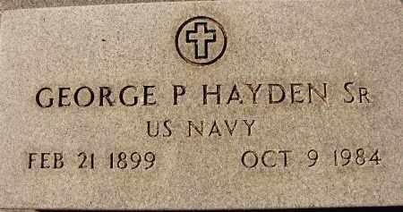 HAYDEN, SR (VETERAN), GEORGE P. (NEW) - DeSoto County, Florida | GEORGE P. (NEW) HAYDEN, SR (VETERAN) - Florida Gravestone Photos