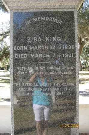 KING, ZIBA - DeSoto County, Florida | ZIBA KING - Florida Gravestone Photos